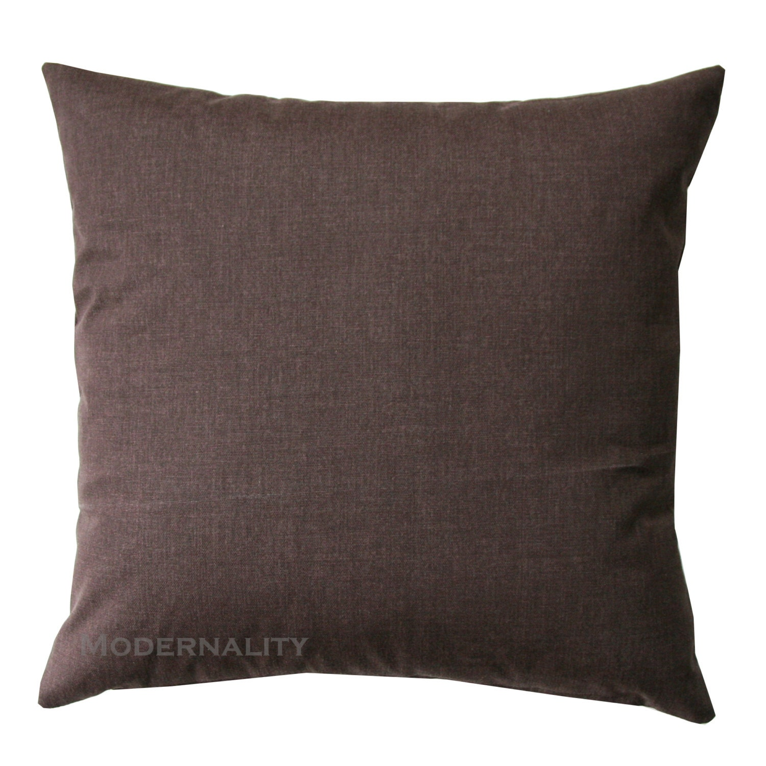 Solid Throw Pillows Brown Solid Pillow Cover Zippered