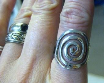 Sterling Spiral Ring