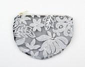 Silver sequin clutch. Silver sequin pouch. White sequin wedding clutch
