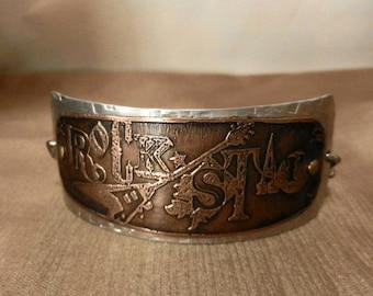 ROCKSTAR.....Mixed Metal Cuff Bracelet