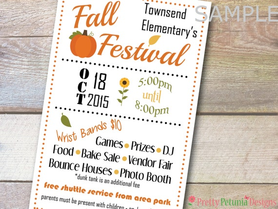 custom printable half page school church flyer banner fall. Black Bedroom Furniture Sets. Home Design Ideas
