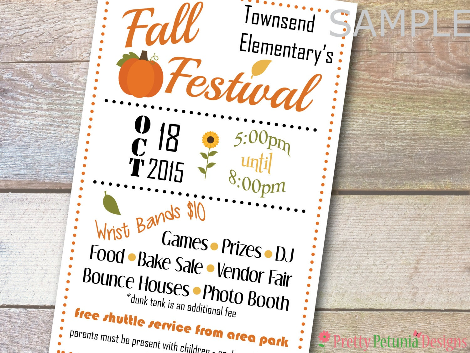 custom printable half page school church flyer banner fall 🔎zoom
