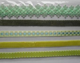Scrapbooking Adhesive Ribbons 5 Assorted