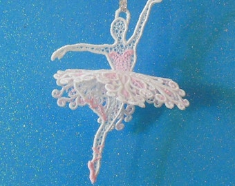Sugar Plum Fairy 3-D Lace Ornament