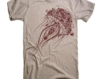 Mens Jellyfish T Shirt - American Apparel Tshirt - XS S M L Xl and Xxl (28 Color Options)