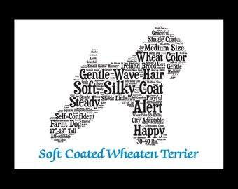 Soft Coated Wheaten, Wheaten Terrier, Wheaten Terrier Artwork, Wheaten Terrier Print, Custom, Personalize, Pet Gift,Dog Art, Pet Memorial