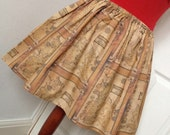 Game of Thrones Full Skater / Circle Style - Map of Westeros Mini Skirt - High Waisted Ladies Skirt - Handmade to Order
