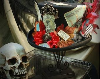 Men's XXL Steampunk Circus Felt Top Hat - The Dark Carnival