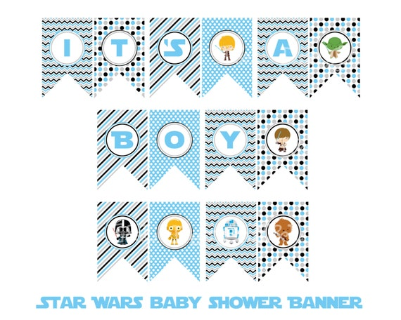 star wars it 39 s a boy banner star wars baby shower instant download