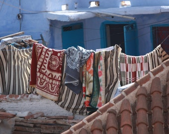 Line Drying Rugs in Morocco - fine art print