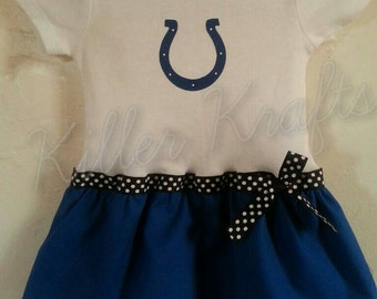 Indianapolis Colts inspired baby girl outfit