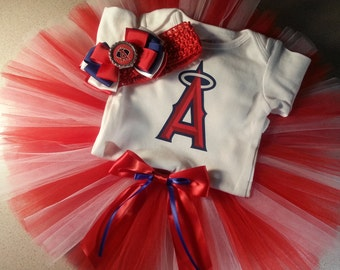 Anaheim Angels inspired tutu outfit