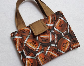 Football Print Crayon Wallet. Free USPS First Class Shipping/ Ready to ship.