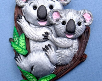 Koala Bear and Joey Pin