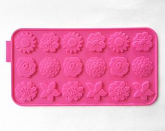 Flexible Silicone Mold Cake Mold Soap Ice Chocolate Mold - Flowers