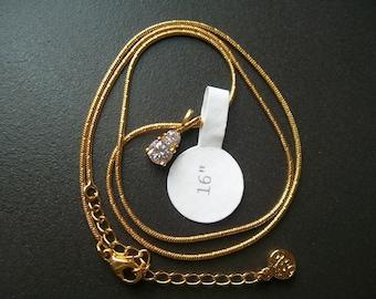 Vintage Signed FAC Butler Swarovski Pendent Necklace NWT Excellent