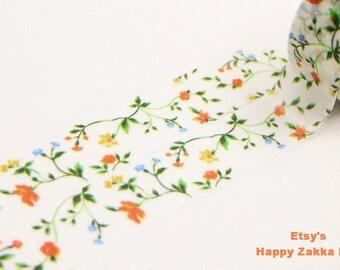 Flower on the Vine - Japanese Washi Masking Tape - 8.7 yards