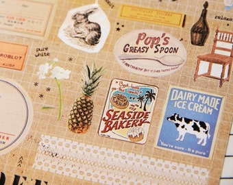 French Story - Sonia Stickers - Paper Deco Sticker - 1 Sheet
