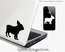 French Bulldog Decal Vinyl Sticker - French Bulldog Silhouette: FBD03