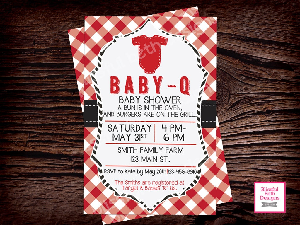 baby q baby shower invitation package baby q shower