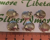 16 pcs per pac 17x15mm Antique Silver Sea Shell Charm Lead Free Pewter.