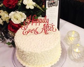 Laser Cut Happily Ever After Cake Topper