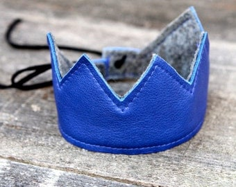 Baby Toddler leather Crown Accessory Photo Prop Birthday Crown