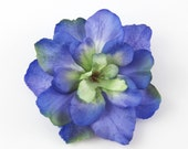 Blue Violet Flower Hair Clip - Small Hair Clip - ONE Piece - Deep Blue Purple Green Royal Dreamy Blue Realistic flower accent any hairstyle