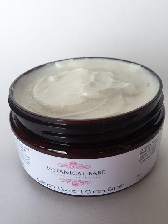 Creamy Coconut Cocoa Butter- Coconut oil, Cocoa Butter, Fair Trade Organic Ingredients 8 oz