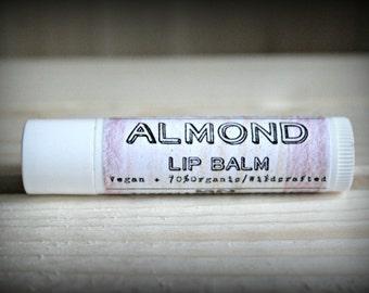 Almond, Organic Vegan lip balm