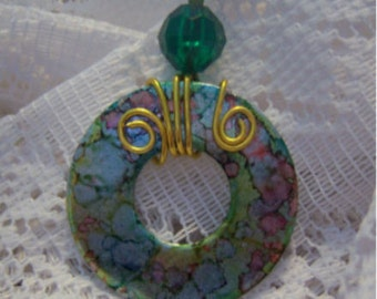 Washer Pendant # 108 One of A Kind Adornment
