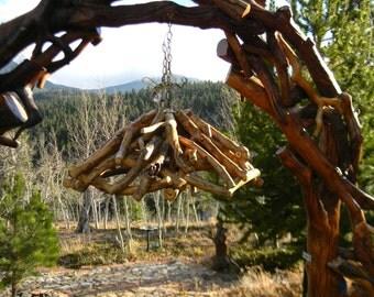 Rustic hanging log lamp - Rustic home decor, Modern rustic decor, Wood art, Rustic lamp,