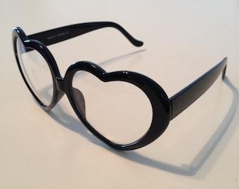 Rave Light Show Glasses - Black Heart