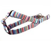 Funky Stripes Dog Step in Harness