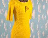1960s Knit Mod Mini Dress