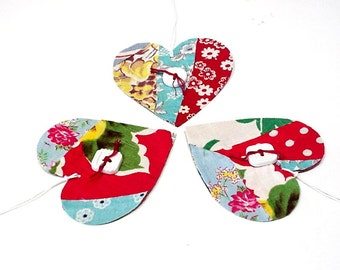 Patchwork Heart Tags, Vintage Feedsack Cutter Quilt Valentine Gift Tags,Original Prim Wedding Everyday All Occasion Hang Tags itsyourcountry