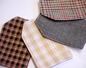 Plaid Fabric Tags, Cotton Quilt Labels,DIY Everyday All Occasion Hang Tags,Place Cards, Organizing Labels,Name Tags,Gift Wrap itsyourcountry