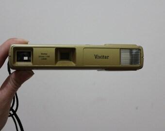 Vintage Super Rad Gold Vivitar 24 mm Made in Japan Camera