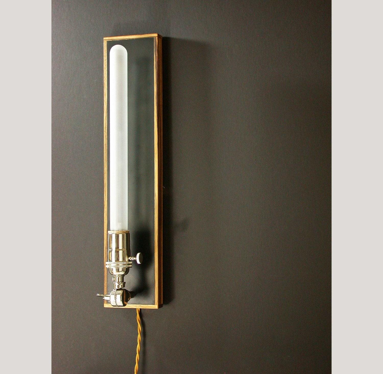 Zebra Wall Sconces : Sconce Wall Zebra Wood Lamp Wall Light Hanging by DLdesignworks