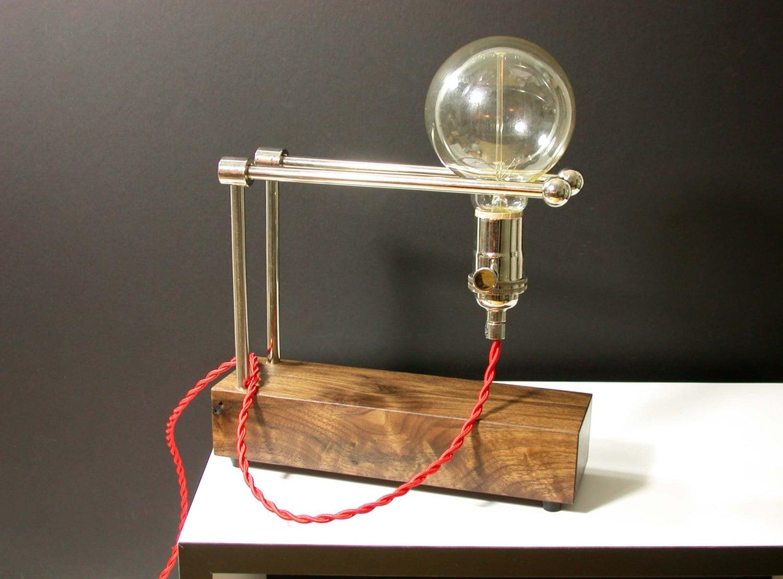 wood modern table lamp adjustable lighting bedside light. Black Bedroom Furniture Sets. Home Design Ideas