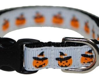 "Jack O Lantern - 3/8"" Adjustable Cat Collar"
