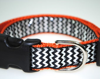 "Chevrons 1"" Adjustable Dog Collar"