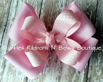ReadyToShip! Pink Princess Hairbow, Pink Hairbow, Light Pink Hairbow, Pink Bows, Hairbows, Hair Accessories, Girls Hairbow, Big Pink Hairbow