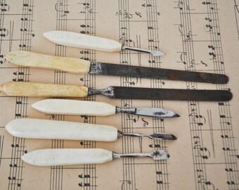 Antique manicure tools.