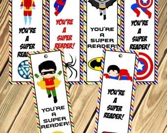 Super Hero Bookmarks Printable