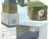 Uncut Simplicity 4713 Pet Dog Crate Coverd and Accessories Three Sizes