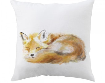 Fox Pillow, 18x18 inch - Decorative Cushion Cover Accessories - Throw Pillow Cover - Whimsical, Cushion, Nursery, Wildlife Design