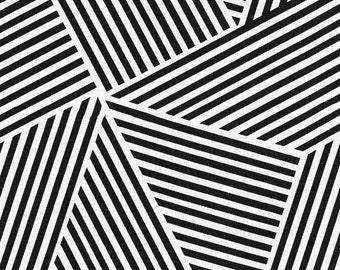 Two 26 x 26 Custom   Designer Decorative Pillow Covers - Nate  Large Abstract Diamond Stripes - Black White