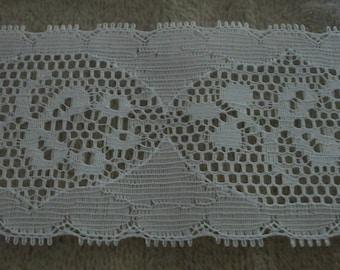White Ruffle Lace Trim