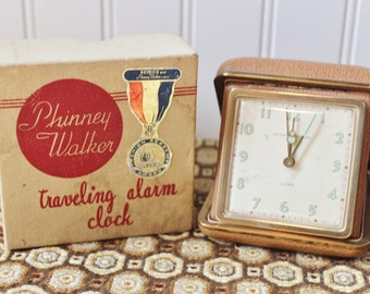 Phinney Walker 1950s Traveling Alarm Clock